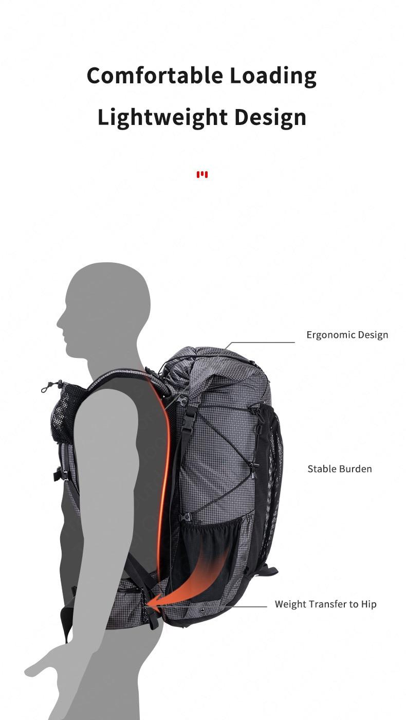 Naturehike กลางแจ้งกระเป๋า 60L กันน้ำปีนเขากระเป๋าเป้สะพายหลังกีฬากระเป๋าผู้ชาย/ผู้หญิง Ultralight เดินป่ากระเป๋าเป้สะพายหลัง