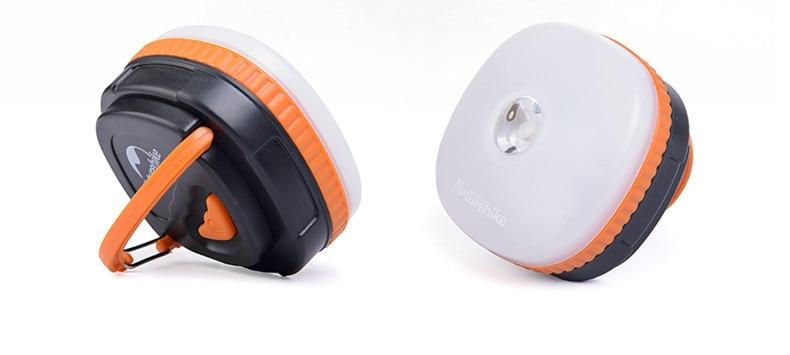 Naturehike โคมไฟ LED สำหรับแคมปิ้ง มีแบตเตอรี่ในตัว กันน้ำได้